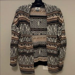 Old navy tribal patterned cardigan